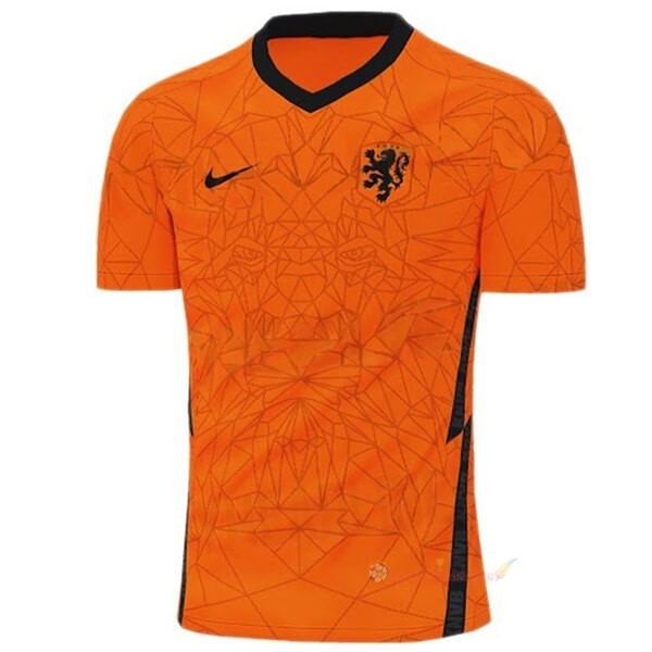 Destockage Maillot De Foot Nike Thailande Domicile Maillot Pays-Bas 2020 Orange