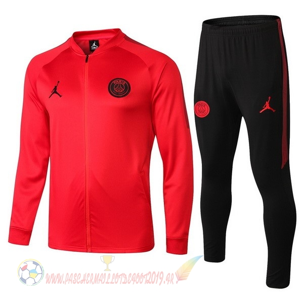 Destockage Maillot De Foot JORDAN De Laine Survêtements Enfant Paris Saint Germain 18-19 Rouge