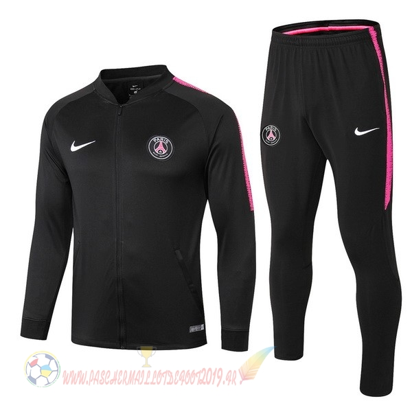 Destockage Maillot De Foot Nike De Laine Survêtements Enfant Paris Saint Germain 18-19 Noir Blanc Rose