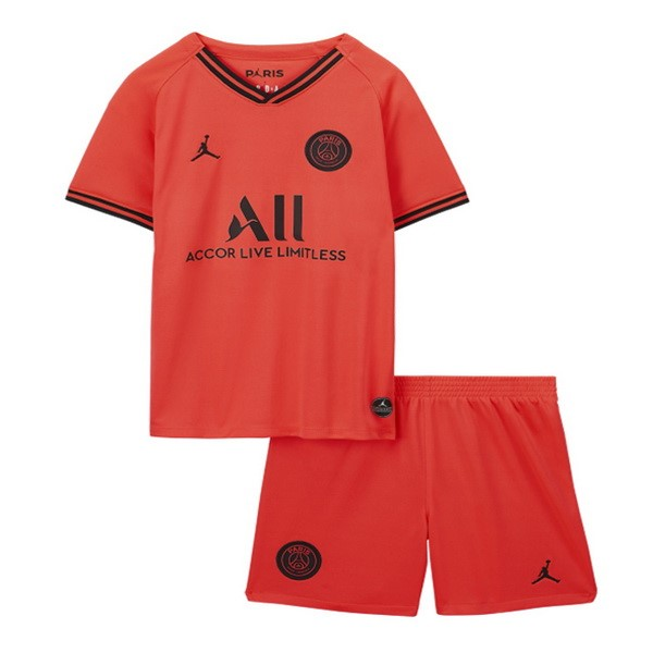 Destockage Maillot De Foot JORDAN Exterieur Ensemble Enfant Paris Saint Germain 2019 2020 Orange