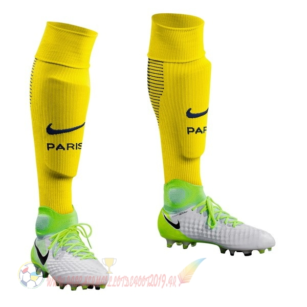 Destockage Maillot De Foot Nike Exterieur Chaussettes Paris Saint Germain 2017 2018 Jaune