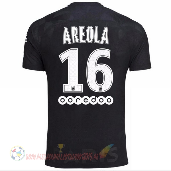 Destockage Maillot De Foot Nike NO.16 Areola Third Maillots Paris Saint Germain 2017 2018 Noir