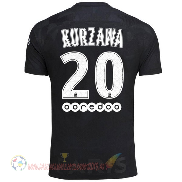 Destockage Maillot De Foot Nike NO.20 Kurzawa Third Maillots Paris Saint Germain 2017 2018 Noir