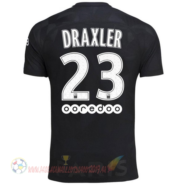 Destockage Maillot De Foot Nike NO.23 Draxler Third Maillots Paris Saint Germain 2017 2018 Noir