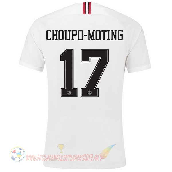Destockage Maillot De Foot JORDAN NO.17 Choupo Moting Third Exterieur Maillots Paris Saint Germain 18-19 Blanc
