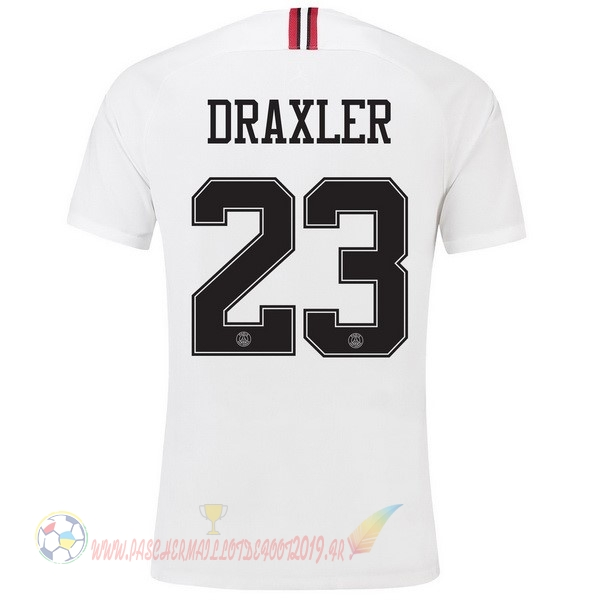Destockage Maillot De Foot JORDAN NO.23 Draxler Third Exterieur Maillots Paris Saint Germain 18-19 Blanc