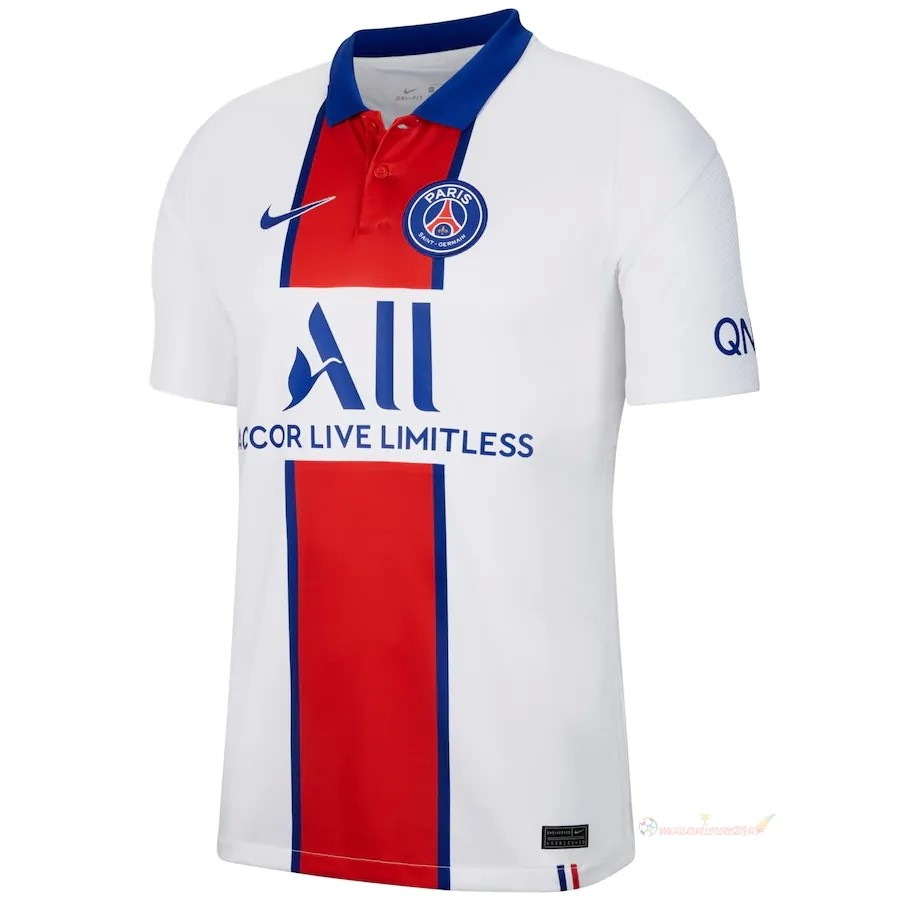 Destockage Maillot De Foot Nike Exterieur Maillot Paris Saint Germain 2020 2021 Blanc