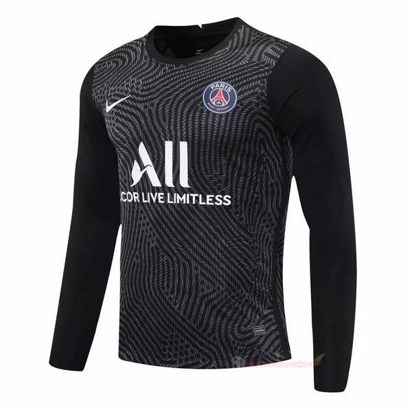 Destockage Maillot De Foot Nike Manches Longues Gardien Paris Saint Germain 2020 2021 Noir