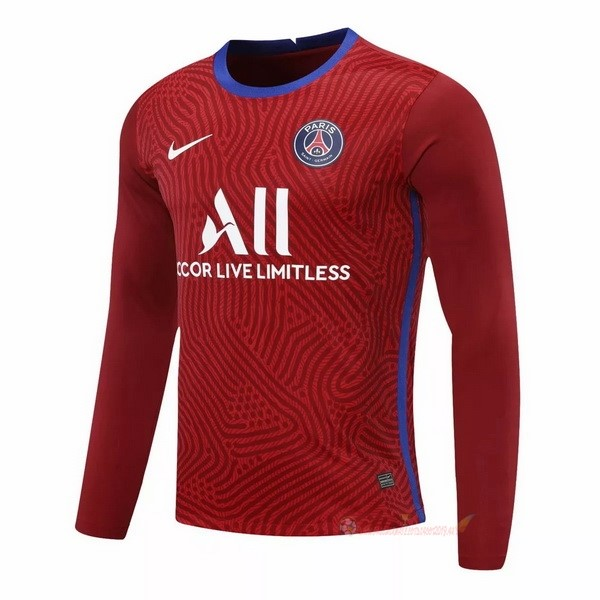 Destockage Maillot De Foot Nike Manches Longues Gardien Paris Saint Germain 2020 2021 Rouge