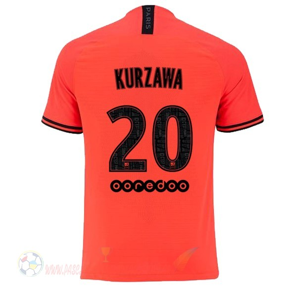 Destockage Maillot De Foot JORDAN NO.20 Kurzawa Exterieur Maillot Paris Saint Germain 2019 2020 Orange