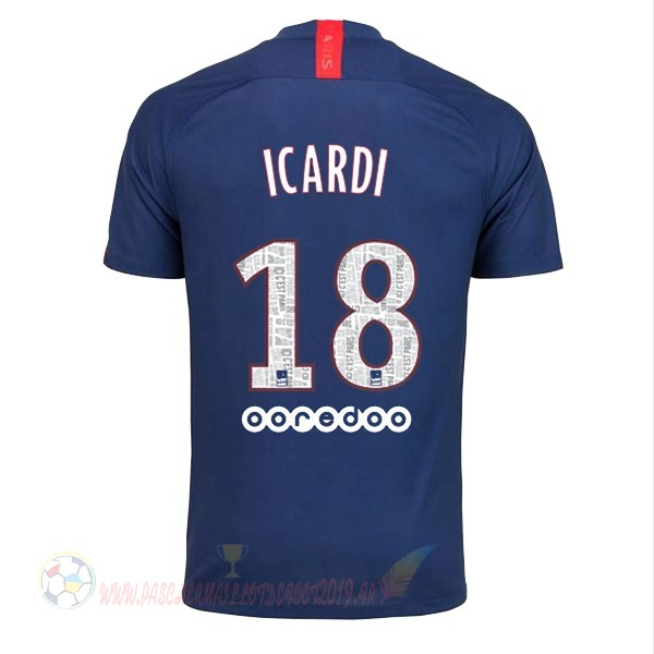Destockage Maillot De Foot Nike NO.18 Icardi Domicile Maillot Paris Saint Germain 2019 2020 Bleu