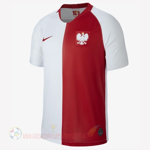 Destockage Maillot De Foot Nike Maillot Pologne 100th Blanc Rouge