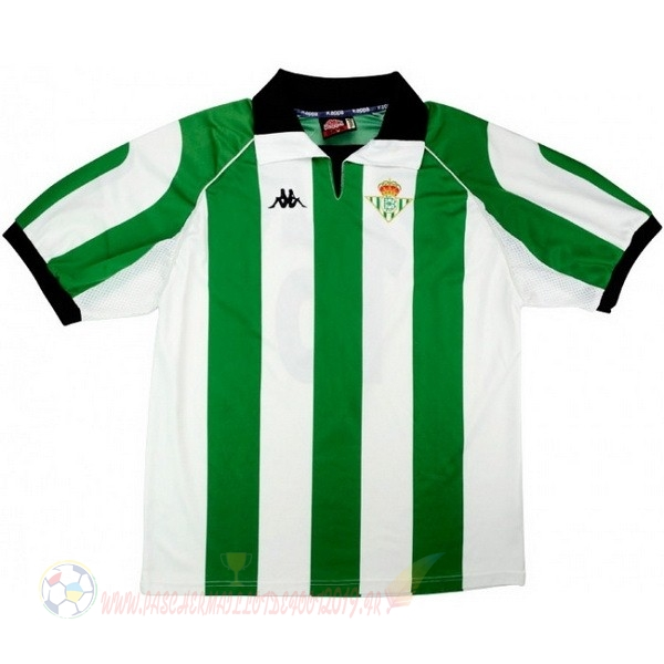 Destockage Maillot De Foot Kappa Maillot Real Betis Retro 1998 1999 Vert