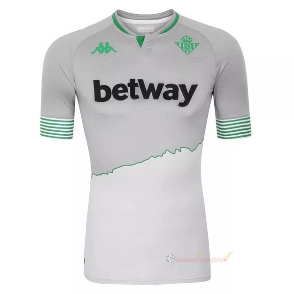Destockage Maillot De Foot Kappa Third Maillot Real Betis 2020 2021 Gris