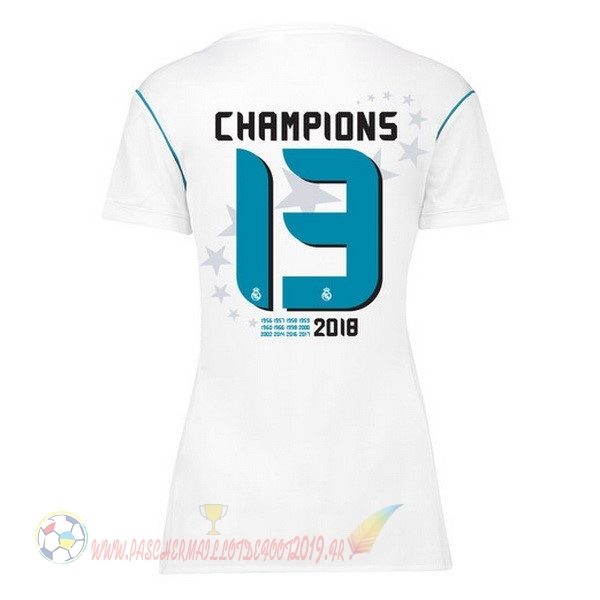Destockage Maillot De Foot adidas Champions 13 Domicile Maillots Femme Real Madrid 2017 2018 Blanc