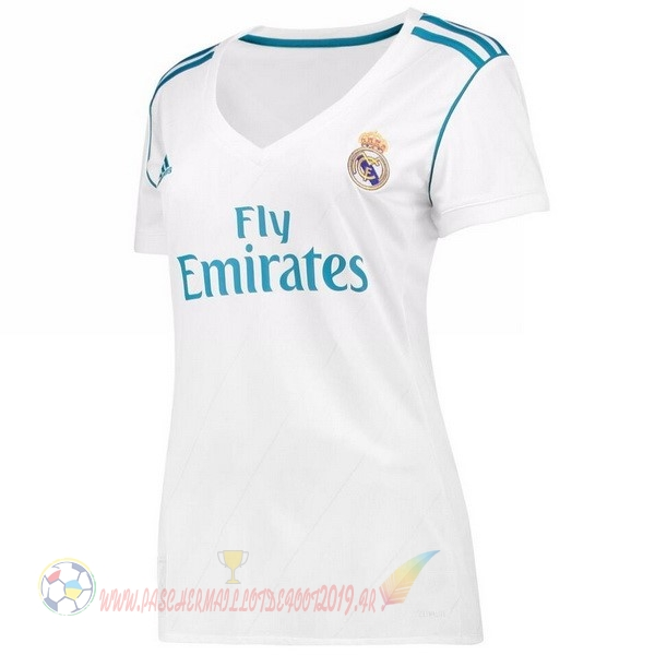 Destockage Maillot De Foot adidas Domicile Maillots Femme Real Madrid 2017 2018 Blanc