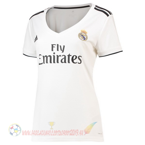 Destockage Maillot De Foot adidas Domicile Maillots Femme Real Madrid 2018 2019 Blanc