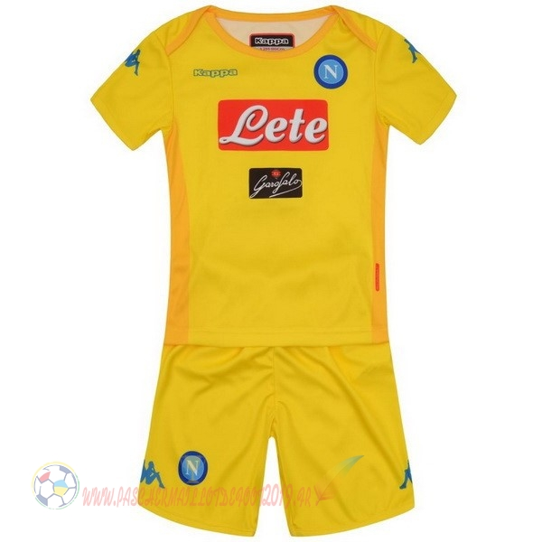 Destockage Maillot De Foot Kappa Exterieur Ensemble Enfant Naples 2017 2018 Jaune