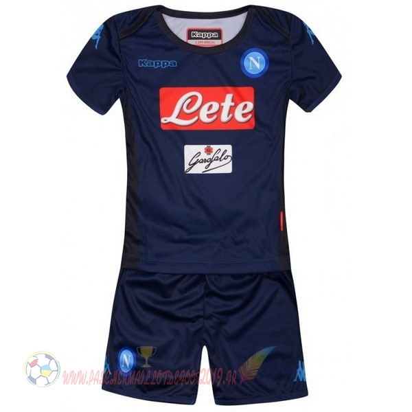Destockage Maillot De Foot Kappa Third Ensemble Enfant Naples 2017 2018 Bleu