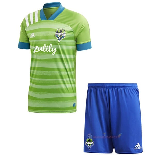 Destockage Maillot De Foot adidas Domicile Ensemble Enfant Seattle Sounders 2020 2021 Vert