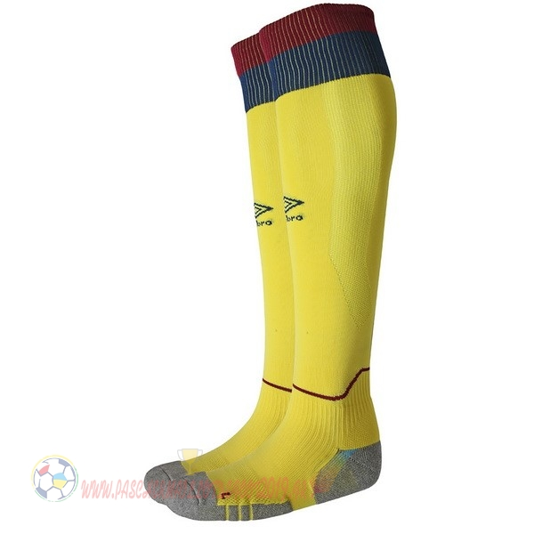 Destockage Maillot De Foot umbro Exterieur Chaussettes West Ham United 2018-2019 Jaune