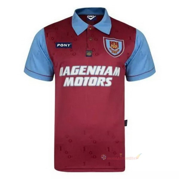 Destockage Maillot De Foot Pony Édition commémorative Maillot West Ham United 100th Rouge