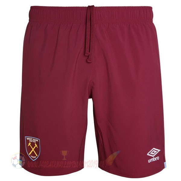Destockage Maillot De Foot Umbro Domicile Pantalon West Ham United 2019 2020 Rouge