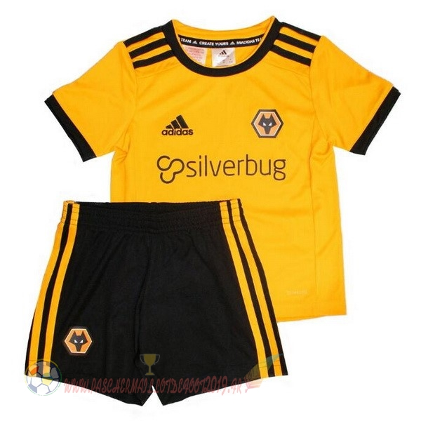 Destockage Maillot De Foot adidas Domicile Ensemble Enfant Wolves 2018-2019 Jaune